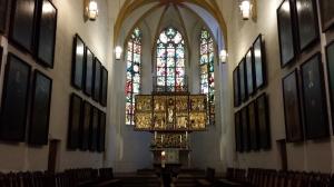 The altar inside St. Thomas Church, Leipzig