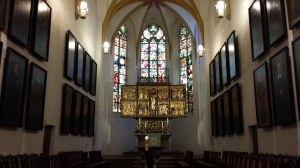 The altar inside St. Thomas Church, Leipzig